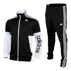 NEW ADIDAS TS BTS KNIT KN OC TRACK SUIT Jacket TT & Pants MENS Black White NWT #adidas #TracksuitsSweats