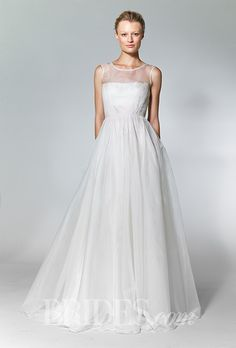 Brides: Wedding Dresses With Illusion Necklines From Fall 2013 | Wedding Dresses | Brides.com | Wedding Dresses Style