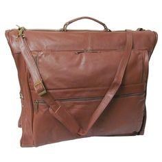 Ameri Cowhide 3-suit Garment Bag