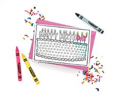 Super cute printable coloring cards! Just download, print, and color! Click through for more designs. DIY adult coloring.