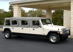 Jeep Wrangler limousine Limo service in Philadelphia - Definitely for a wedding reception!
