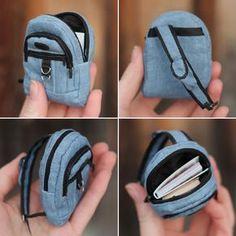 Tutorial Полосатая Коробка: Как я шью миниатюрные рюкзаки куклам / How to sew a doll backpack 1/6
