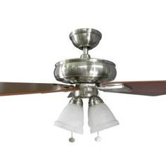 Hampton Bay, Lyndhurst 52 in. Indoor Brushed Nickel Ceiling Fan, 51091 at The Home Depot - Mobile