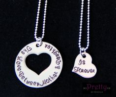 Mother's Day Jewelry - Mothers Day Necklace - Mother Daughter Necklace Set - The Love Between Mother and Daughter is Forever on Etsy, $40.00