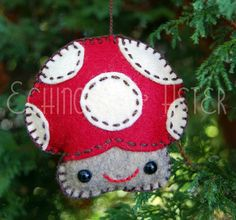 Merry Mushroom Felt Ornament | Flickr - Photo Sharing!