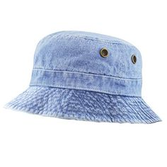 7b41d2c5df2 The Hat Depot Unisex Washed Denim Foldable Bucket Outdoor Cotton Hat Best  Quality In Market