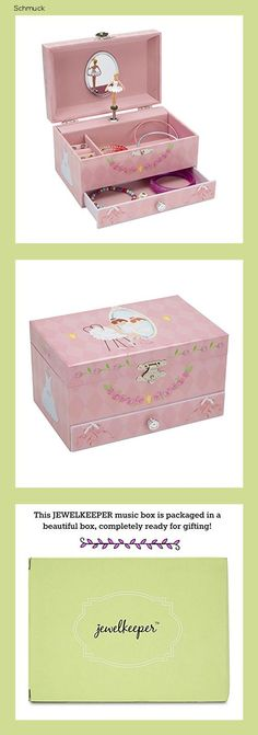 Jewelkeeper - Diamant Ballerina Spieluhr Schmuckschatulle mit Ausziehfächern, Schmuckschatulle - Schwanensee Melodie - 14ng Box, Ballerina, Packaging, Gifts, Swan Lake, Kids Jewelry, Moving Out, Snare Drum, Presents