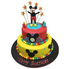 Order Mickey Mouse Clubhouse Cake online in Delhi. Call 9718108300 for more information. Mickey Mouse Clubhouse Cake, Cake Designs For Kids, Cake Online, Cartoon Cakes, Birthday Cake, Treats, Free Delivery, Desserts, Sweet Like Candy