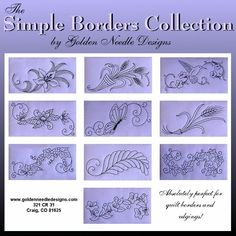 Simple Borders Collection - Machine Embroidery Designs Border Embroidery Design [] - $14.99 : Golden Needle Designs, Great machine embroidery designs