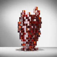 """""""Presenze"""" vase 02, 2013 Nucleo_Piergiorgio Robino+Alice Carlotta Occleppo 31,5x34x49,5H cm Murano glass Artist proof"""