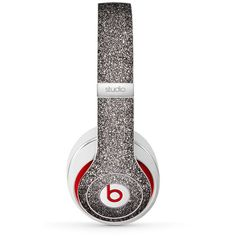 Pink Glitter Ultra Metallic Skin for the Beats by Dre Studio, Solo,... ($20) ❤ liked on Polyvore featuring accessories, beats and beats by dr. dre