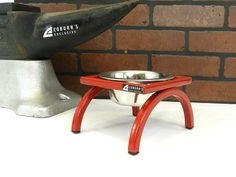 Elevated dog and cat  feeder, Single Bowl holder  4 inch height. $28.00, via Etsy.