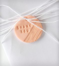 Clay Thank You Gift Tag