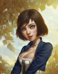 Elizabeth (Bioshock Infinite fan art) by ~Speeh on deviantART Bioshock Game, Bioshock Series, Bioshock Rapture, Bioshock Infinite Elizabeth, Elizabeth Comstock, Infinite Art, Wolf, Fanart, Sr1