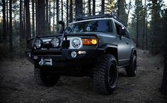 Xplore Toyota FJ Cruiser - $35,000 | Custom matte paint, Xplore/Method black aluminum wheels, a Magnaflow exhaust system, Blistein shocks, leather and suede seats, Xplore metal badges, and a one year pass to our National Parks and Monuments, it's nearly a one-stop shop for any aspiring adventurer — and it'll look great in your suburban driveway, too. | Uncrate
