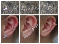3 DELICATE EAR CUFFS - DIY ♡ http://www.youtube.com/watch?v=pMDXVsebhuU