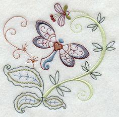Vintage Jacobean Dragonfly 2
