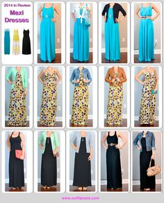 2014 in review - outfit posts: maxi dresses - 14 ways