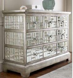Pieced Mosaic Mirrored Dresser/Credenza...