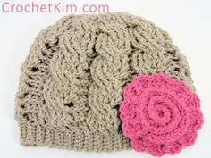 Twisty Cabled Beanie | free crochet pattern at CrochetKim.com