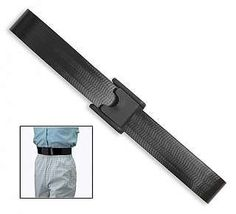 "Cleanable Gait Belt BLACK - 60"" LENGTH by Posey. $18.95. Applies quickly and effortlessly with airline buckle.. Wipes clean with mild disinfectant.. The Cleanable Gait Belt is designed to help prevent back injuries for caregivers transferring patients. The buck can be applied quickly and effortlessly with a heavy-duty airline buckle and can removed just as easily. The Gait Belt can also be cleaned by using a mild disinfectant."
