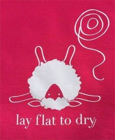 Lay flat to dry.