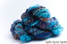 Odyssey, CoilSpun BeeHive Art Yarn, HandSpun HandDyed Yarn, Merino, Shetland, Silk 26 yards