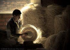 Making of Panama Hat