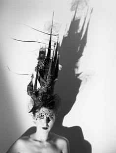 Isabella Blow wearing Philip Treacy's Castle Hat, 1999