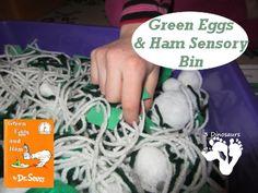 Green Eggs and Ham Sensory Bin - 3Dinosaurs.com