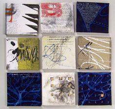 Works on canvas by Italian calligrapher Massimo Polello