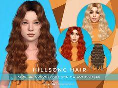 SonyaSimsCC's SonyaSims Hillsong Hair for KIDS Sims 4 Children, Kids, Rogue Hair, All Hairstyles, Female Hairstyles, Eden Hair, Mod Hair, Sims 4 Dresses, Sims 4 Toddler