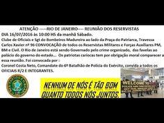 COMUNICADO IMPORTANTE - INTERVENÇÃO MILITAR ESTÁ CHEGANDO