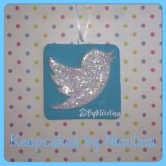 Personalized Twitter Ornament and or Magnet by www.KeepsakesByNicolina.com