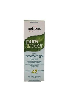 Nelson Homeopathic: Pure & Clear Acne Treatment Gel, 1 oz (2 pack)