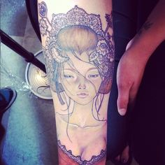 absolutely amazing! an audrey kawasaki piece done by christel at sol tribe tattoo in denver.