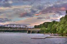 HDR - Sunset on the Mohawk river