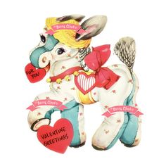 Donkey Vintage Digital download Vintage greeting card