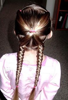 Little Girl's Hairstyles: Cute and easy braid pony and pigtails