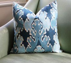 Kelly+Wearstler+Bengal+Bazaar+Teal+Cushion+Pillow+by+Aurelia6311,+$55.00