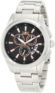 Invicta 1976 Specialty Chronograph Black Dial Stainless Steel Mens Watch