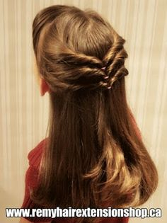 hair styles for medium length hair hair trends brunette hair Easy Little Girl Hairstyles, Cute Hairstyles, Braided Hairstyles, Step Hairstyle, Wedding Hairstyles, Simple Hairdos, Hairstyle Images, Birthday Hairstyles, Female Hairstyles