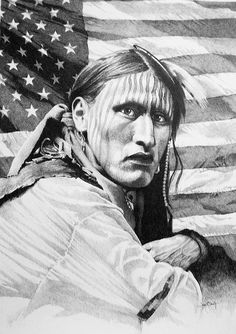 Ossahatchee 08  Pencil drawing done to promote Native American Pow-Wow/Indian Festival in Hamilton, GA, by artist, Joe Belt