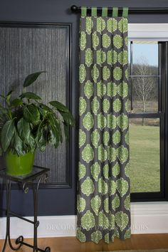 Tab top drapery panel from Decorating Den Int. Decor, Drapery Panels, Drapery, Curtains, Paneling, Home Decor