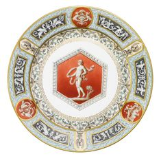 porcelain plate from the Raphael Service, Imperial Porcelain Manufactory, St Petersburg, period of Alexander III (1881-1894), dated 1894