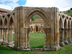 Monasterio en Soria de San Juan de Duero (claustro)