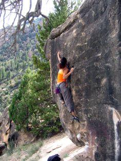 Shelley Bouldering at Joe's Valley UT