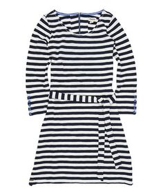 Look what I found on #zulily! Hatley Navy Stripe Button Cuff Dress by Hatley #zulilyfinds