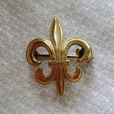 Antique Ladies Watch Brooch Pin Fleur de Lys by SilverFoxAntiques, $35.00