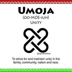 Day 1 - Umoja/Unity - To strive for and maintain unity in the family, community, nation, and race.  #kwanzaa #umoja #unity #nguzosaba #ujamaabox